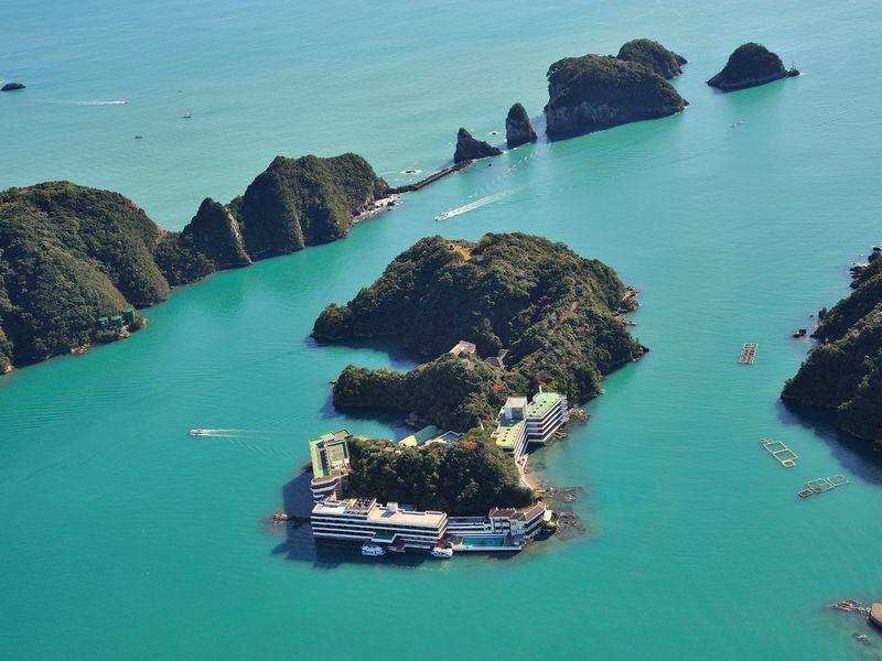 日本泡湯趣!和歌山勝浦中之島 唯一一島一飯店海邊露天風呂