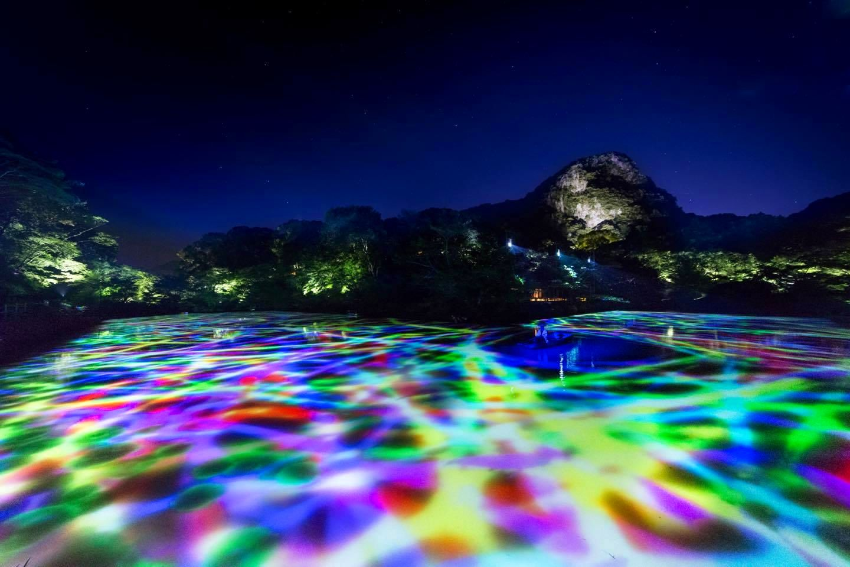 絕對驚艷!九州佐賀・御船山樂園teamLab藝術展『有神明居住的森林』