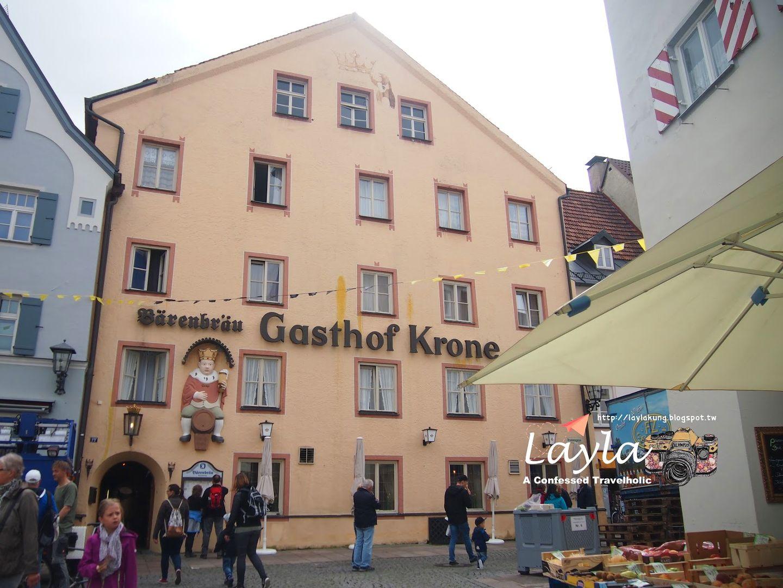 暑假 德國 Germany ✿ Day 27 ✿ 福森 Füssen ► 食事 ❣ 巴伐利亞傳統料理 → Gasthof Krone