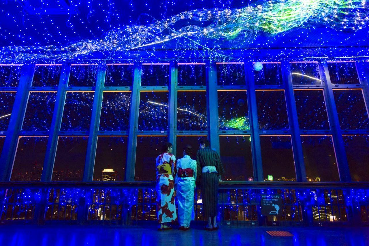 日本夏季風物詩 – 東京鐵塔「天河星空燈飾」涼爽點燈中!
