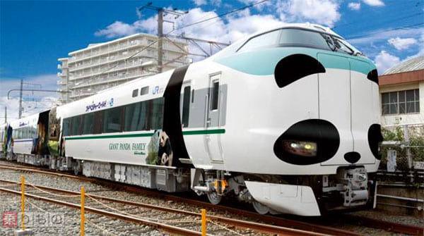 搭熊貓列車出發吧!2017年8月5日到2019年11月期間運行的「黑潮號」超卡哇伊車廂~
